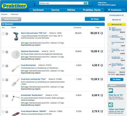 Praktiker Online Shop
